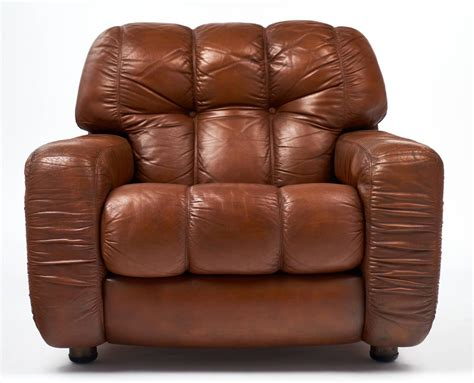 vintage overstuffed leather club chairs for sale at