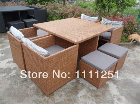 new wicker outdoor furniture setting garden deck bbq