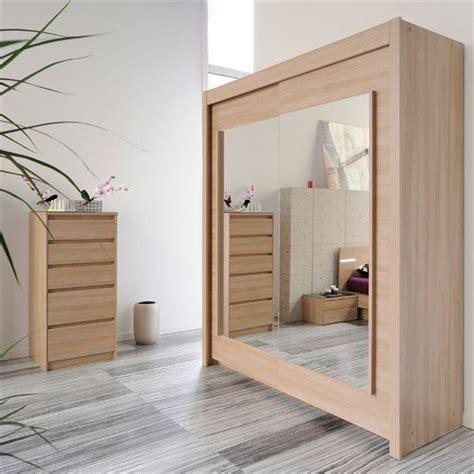 grand miroir chambre armoire 2 portes avec miroirs achat vente