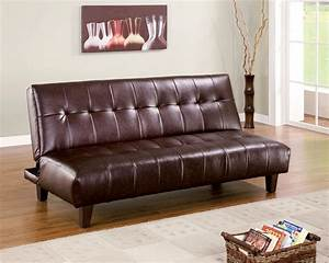 brown leatherette sofa bed chaise lounge futon high With high quality futon sofa bed