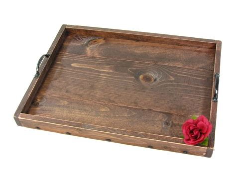 serving tray for ottoman ottoman tray wooden serving tray decorative by bridgewoodplace