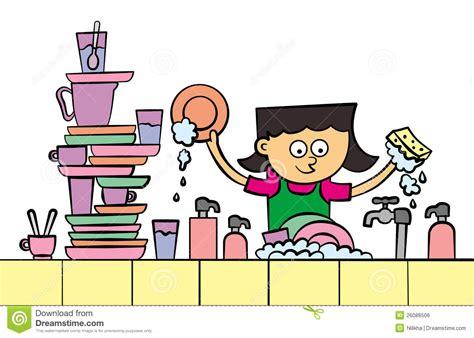 cuisine dessin animé lave vaisselle image libre de droits image 26086506