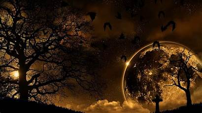 Nature Night Moon Landscape Background Wallpapers 1080p