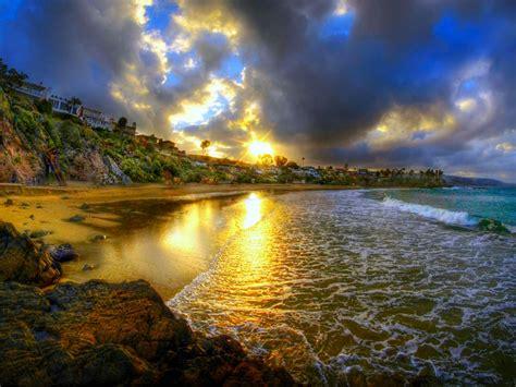 Cresent Bay Beach At Sunset Usa Ocean 2560x1600 Hd ...