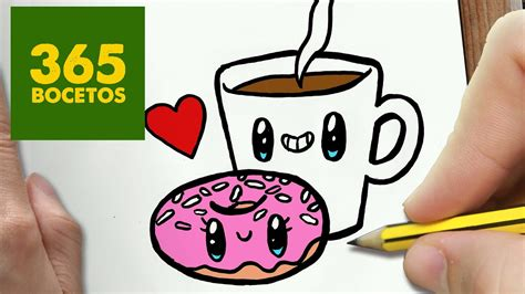 como dibujar cafe y donut kawaii paso a paso dibujos kawaii faciles draw a coffee and donut