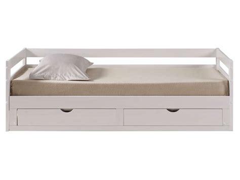 chambre complete adulte ikea lit banquette gigogne 90x190 cm supercozy coloris blanc