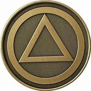 AA Alcoholics Anonymous Circle Triangle Logo Bronze ...