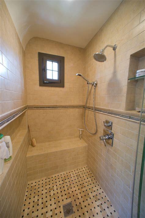 walk  shower remodel traditional bathroom