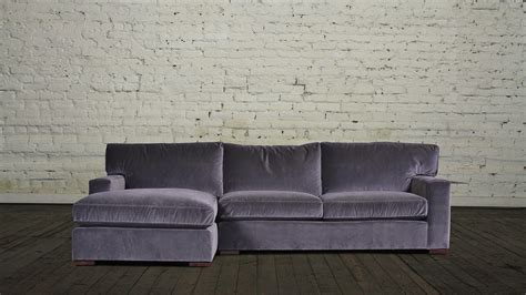 chaise velours velvet sectional sofa with chaise hereo sofa