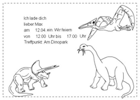 dinosaurier einladung