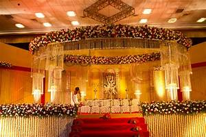Hindu crystal wedding stage Red Carpet Events