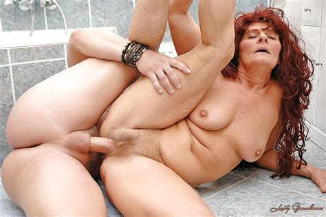 Lusty Redhead Granny Sucks And Fucks A Hard Cock In The
