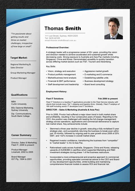 Professional Resume Template by Professional Cv Template Resume Templates