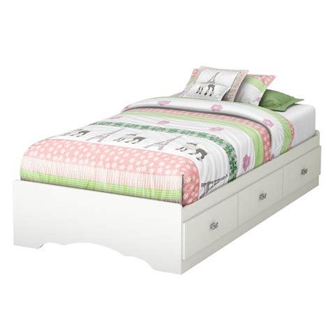 South Shore Tiara Twin Platform Customizable Bedroom Set