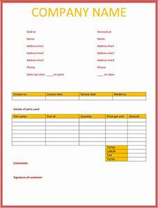 5 service invoice templates for word and excelr for Service invoice template word