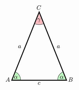 Höhe Gleichschenkliges Dreieck Berechnen : gleichschenkliges dreieck wikipedia ~ Themetempest.com Abrechnung