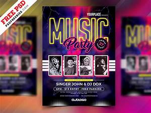 Free Dj Contract Template Free Psd Music Party Flyer Template Psd By Psd Freebies