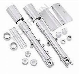 Harley Softail Fatboy Chrome Front End Package Lower Fork Sliders Legs 46661