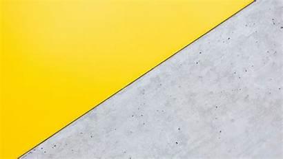 Yellow Triangle Gray Background Angle Minimalism Hdv