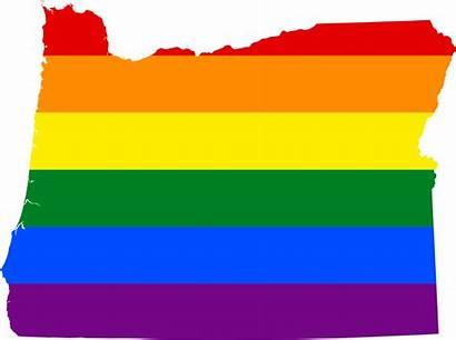Oregon Svg Flag Lgbt Map State Gender