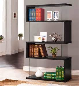 Black Shelves White Bookcase