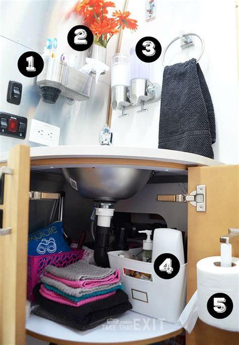 storage solutions   bathroom    foot airstream