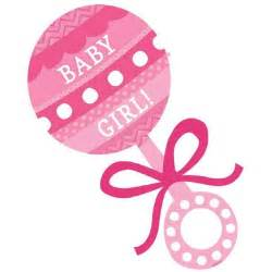 Pink Baby Girl Rattle Clip Art
