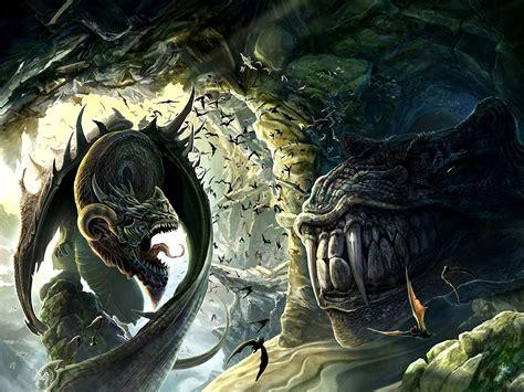 fantasy, Art, Dragon, Monster, Battle Wallpapers HD ...