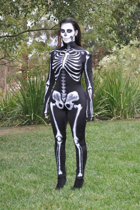 kim kardashian wears skeleton costume halloween