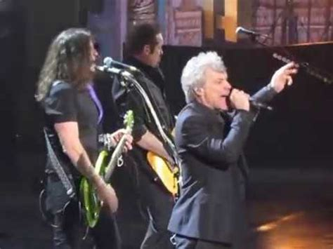 Rock Roll Hall Fame Bon Jovi Complete Shot Thru