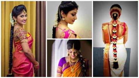 easy simple hairstyles  silk saree