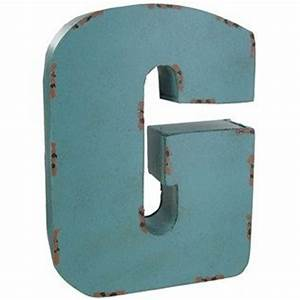 large red blue or brown metal letter g adds dimension With hollow metal letters