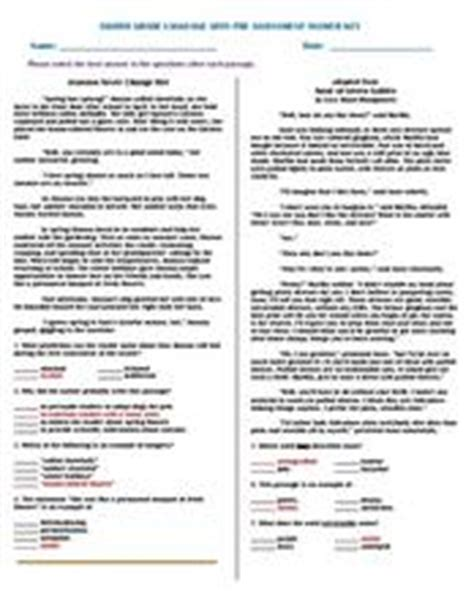 eighth grade language arts pre assessment answer key 8th grade worksheet lesson planet