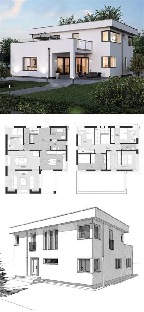 Stadtvilla Modern Mit Anbau by Stadtvilla Neubau Modern Mit Flachdach Architektur Anbau