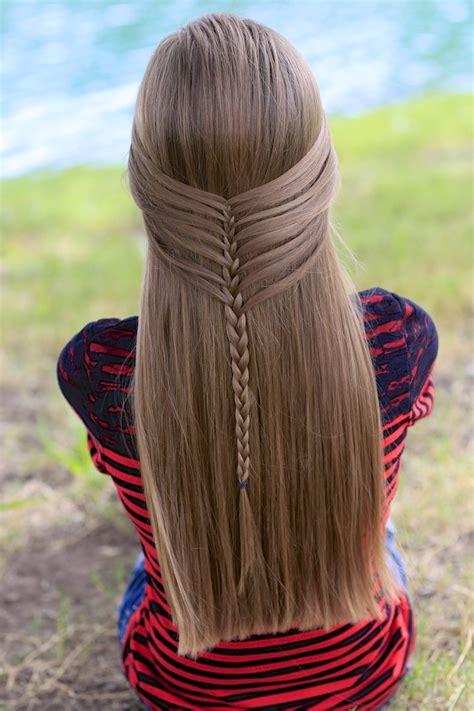 mermaid half braid hairstyles for long hair cute girls