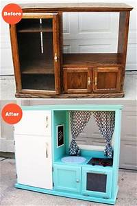 Before & After: Turn an Old Cabinet into a Kid's Kitchen ...
