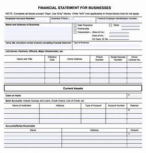 Small Business Profit And Loss Free 6 Sample Business Financial Statement Forms In Pdf