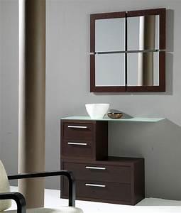 Meuble Avec Miroir : meuble d entree contemporain vermeer zd1 meu dentr ~ Teatrodelosmanantiales.com Idées de Décoration