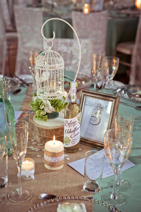 Rustic Meets Elegant Mint And Gold Barn Wedding Receptions