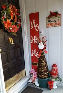 35, Diy, Front, Porch, Christmas, Tree, Ideas, On, A, Budget