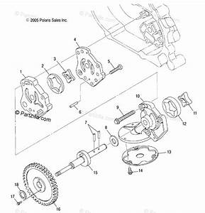 Polaris Side By Side 2006 Oem Parts Diagram For Oil Pump