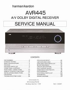 Harman Kardon Avr 445 Service Manual