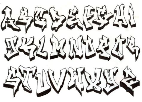 Font Grafiti Abjad : New Calendar Template Site