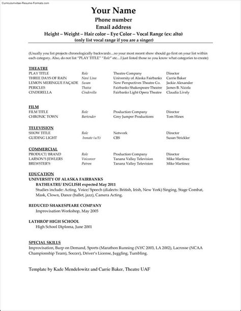 Resume Outline Microsoft Word 2010 by Microsoft Word 2010 Resume Template Free Sles