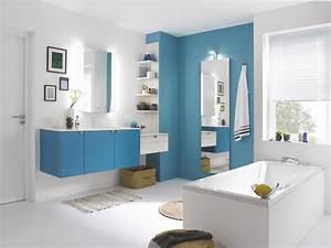 La Salle De Bain : meuble de salle de bains design color turquoise bois ~ Dailycaller-alerts.com Idées de Décoration