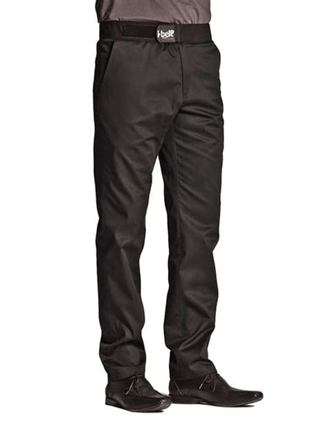 clement vetement cuisine pantalon de cuisine homme ceinture i belt cyclone noir
