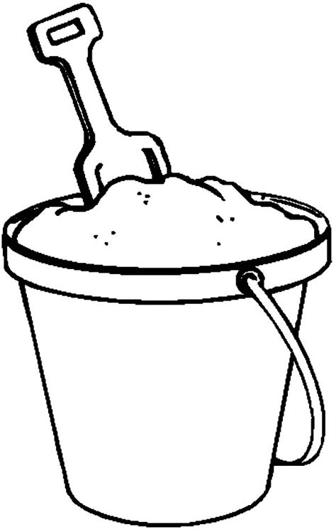 Kleurplaat Strandemmer by Fill With Sand Coloring Pages Fill