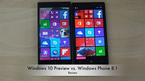 windows 10 preview vs windows phone 8 1 review 4k