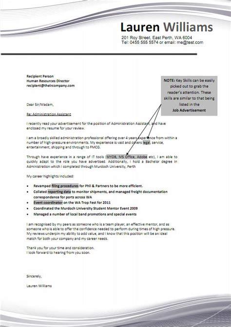 cover letter resume exle australia 172 best cover letter sles images on resume