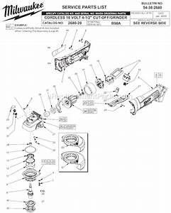Milwaukee 2680-20 Parts List And Diagram
